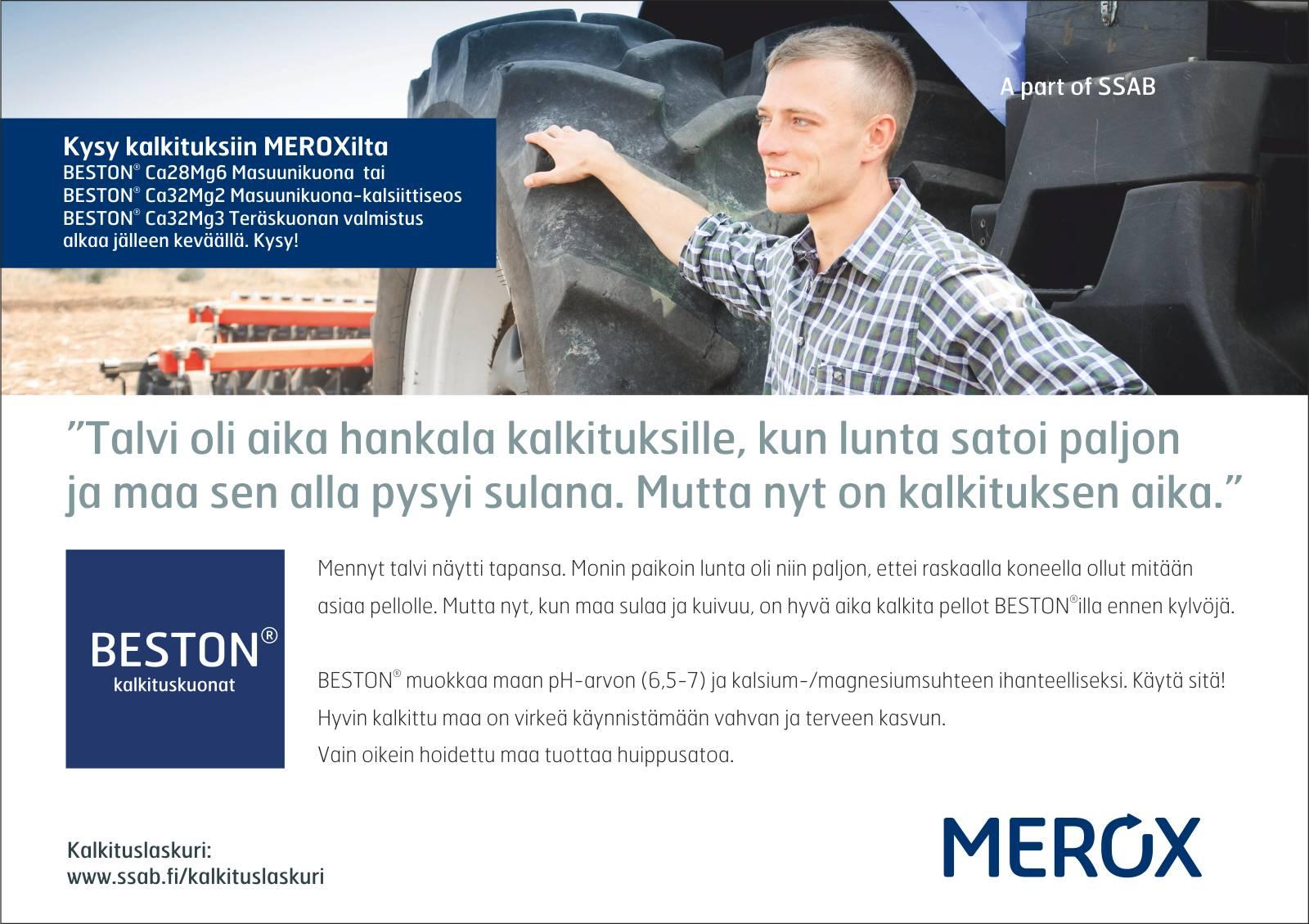 Merox ilmoitus huhtikuu 2018